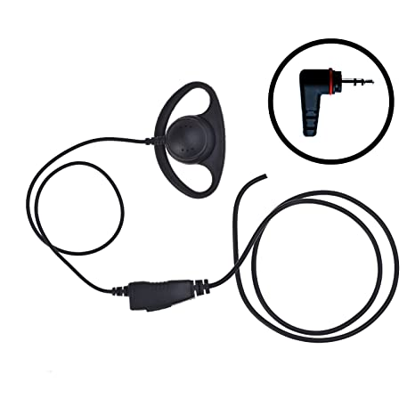 amazon impact d ring loop style earpiece mic for hytera pd362 radio shack  21 1519 cb mic wiring diagram 5 pin cb mic wiring diagram