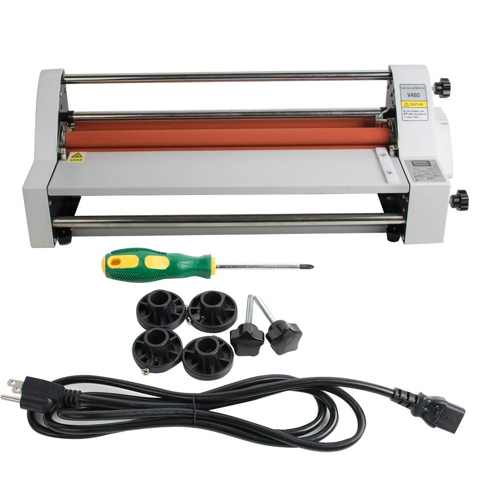 17''Laminating Machine Hot Cold Roll Laminator 450 mm Single&Dual Sided Electronic Temperature Control LED Display by Fencia (Image #1)