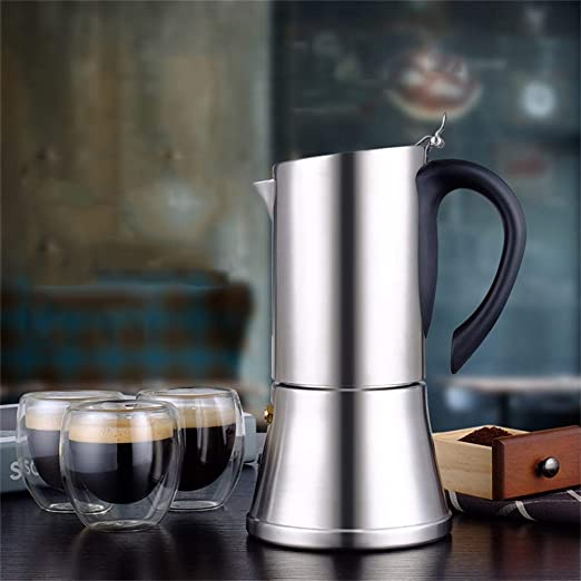 HEYU-Moka 6 Tazas (350 ml) de cafetera Espresso Italiana ...