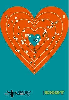 Amazon heart hot pink bullseye paper target pistol hand gun orange heart splatter paper target geometric fun kid shape targets thecheapjerseys Choice Image
