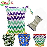 Baby Waterproof Reuseable Potty Training Diapers 3pcs, 1 Wet/Dry Bag by Ohbabyka