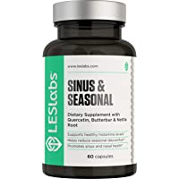 LES Labs Sinus & Seasonal, Sinus Relief & Seasonal Discomfort Supplement for Healthy...