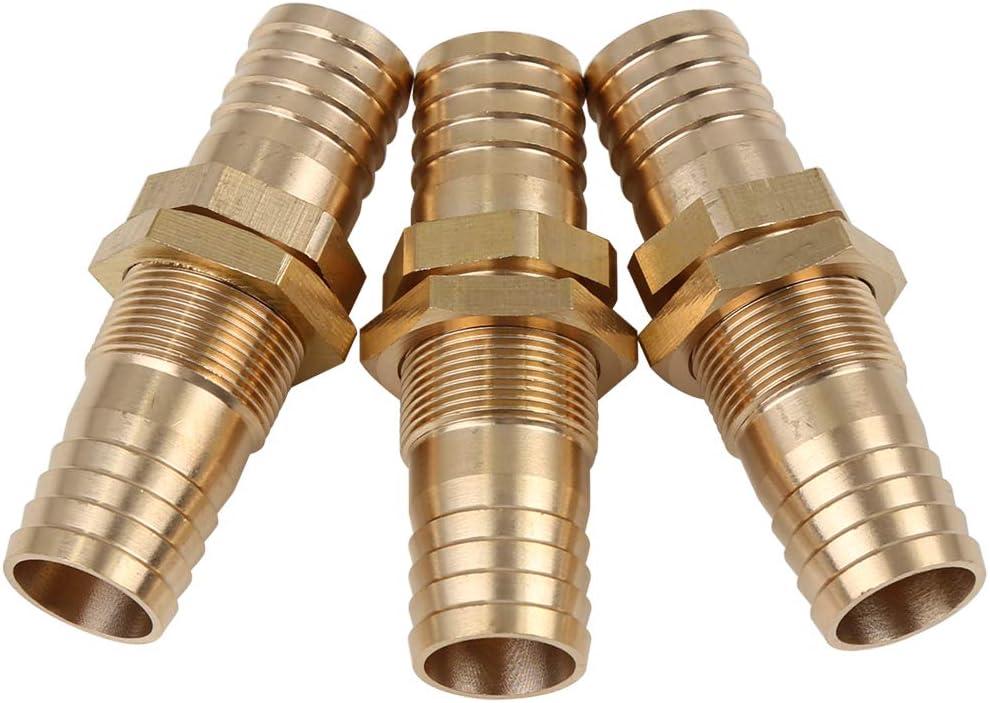 Conector Recto para Manguera de 5 mm de lat/ón para Aceite de Gas de Aire X AUTOHAUX