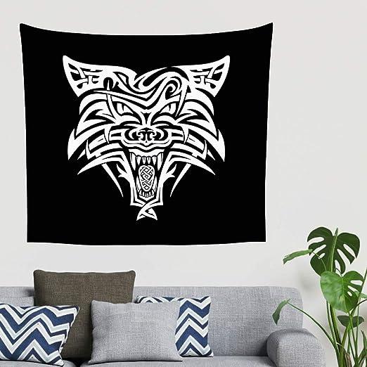 Zigeuner - Tapiz de pared con diseño de Fenrir Wolf, tatuaje ...