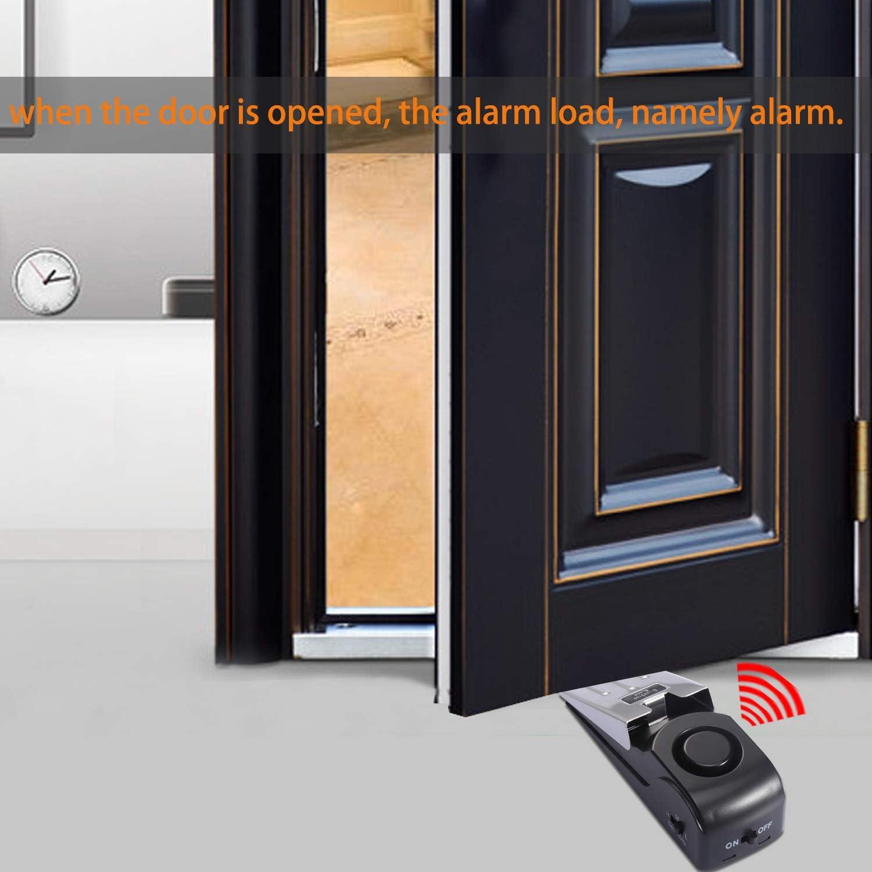 Door Stopper Security Alarm Door Stop Alarm for Travel Home Apartment House Portable Entrance Alert Door Stop Alarm with 120DB Siren 3 Packs