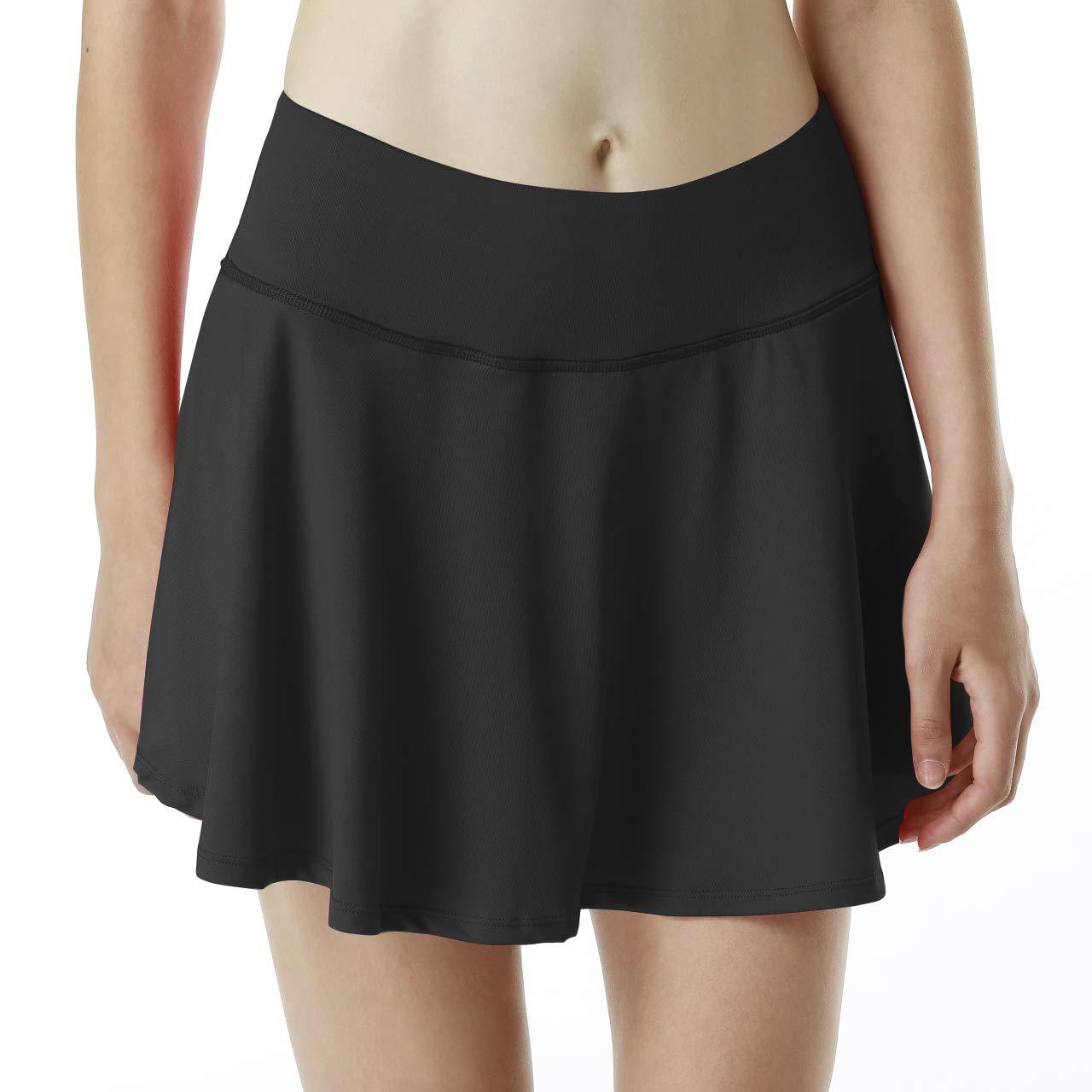 33d5e44be9 iooho Women's Athletic Tennis Skirt Running Golf Workout Skort with Pockets