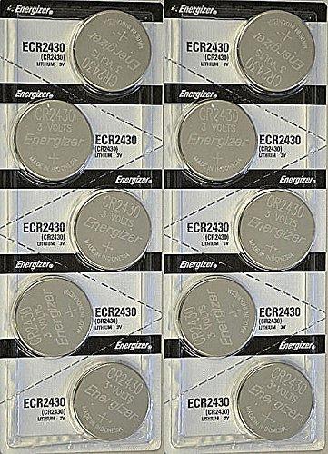 1 X 10x Energizer CR2430 (ECR2430BP) Lithium Coin 3v Button Cell battery (Lithium Batteries Cr2430)