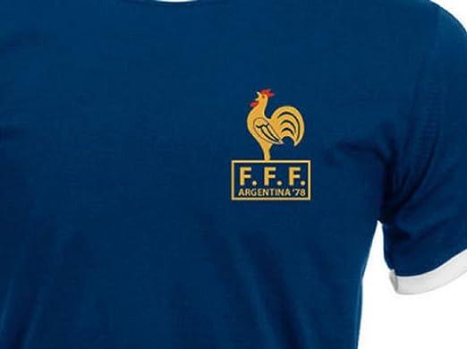 817581f6bc8 Simplicitees Retro France French Football Shirt TShirt