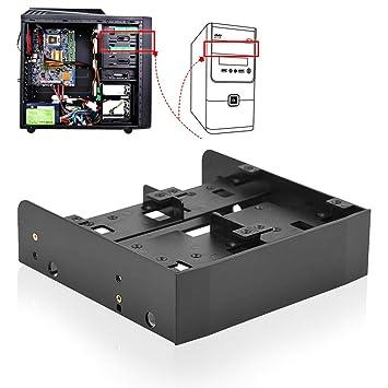 Oumij - Soporte de montaje para ordenador (HDD/SSD a 5.25 ...