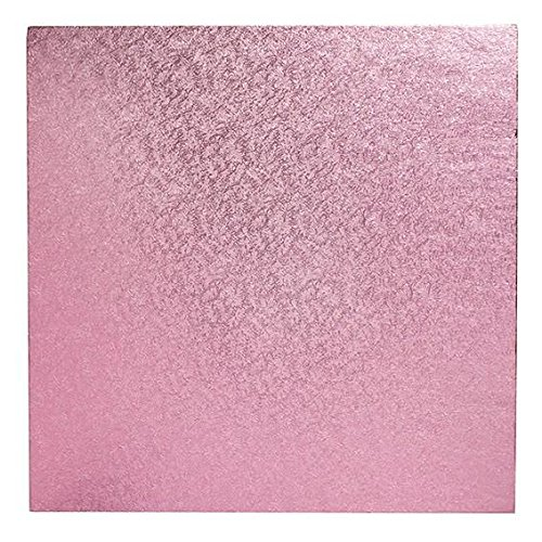 Square Cake Board - Pink 10'' by Stef Chef (Image #1)