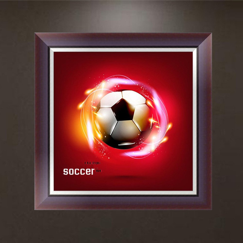 UULIKE DIY Diamond Painting Kits Full Drill 5D Rhinestone Crystal Embroidery Football /& Goldfish Pictures Multiple Patterns Pasted Cross Stitch Square Art Craft for Home Decor