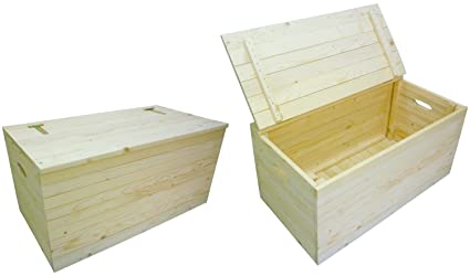 Cassapanca Mobile Baule Box Panca in legno porta oggetti biancheria ...