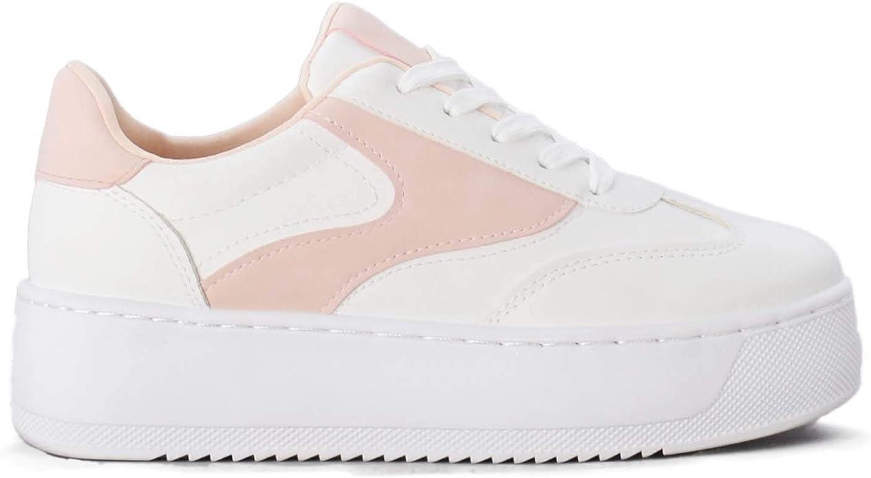 Zapatillas para Mujer Blancas Altas: Amazon.es: Zapatos y
