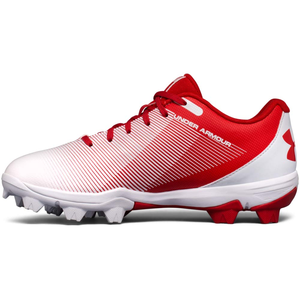 Under Armour Boys Leadoff Low Jr. RM Baseball Shoe, Red (611)/White, Little Kid 3 US by Under Armour