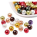 Pandahall Brillo perlado perlas de vidrio nacarado, color mezclado