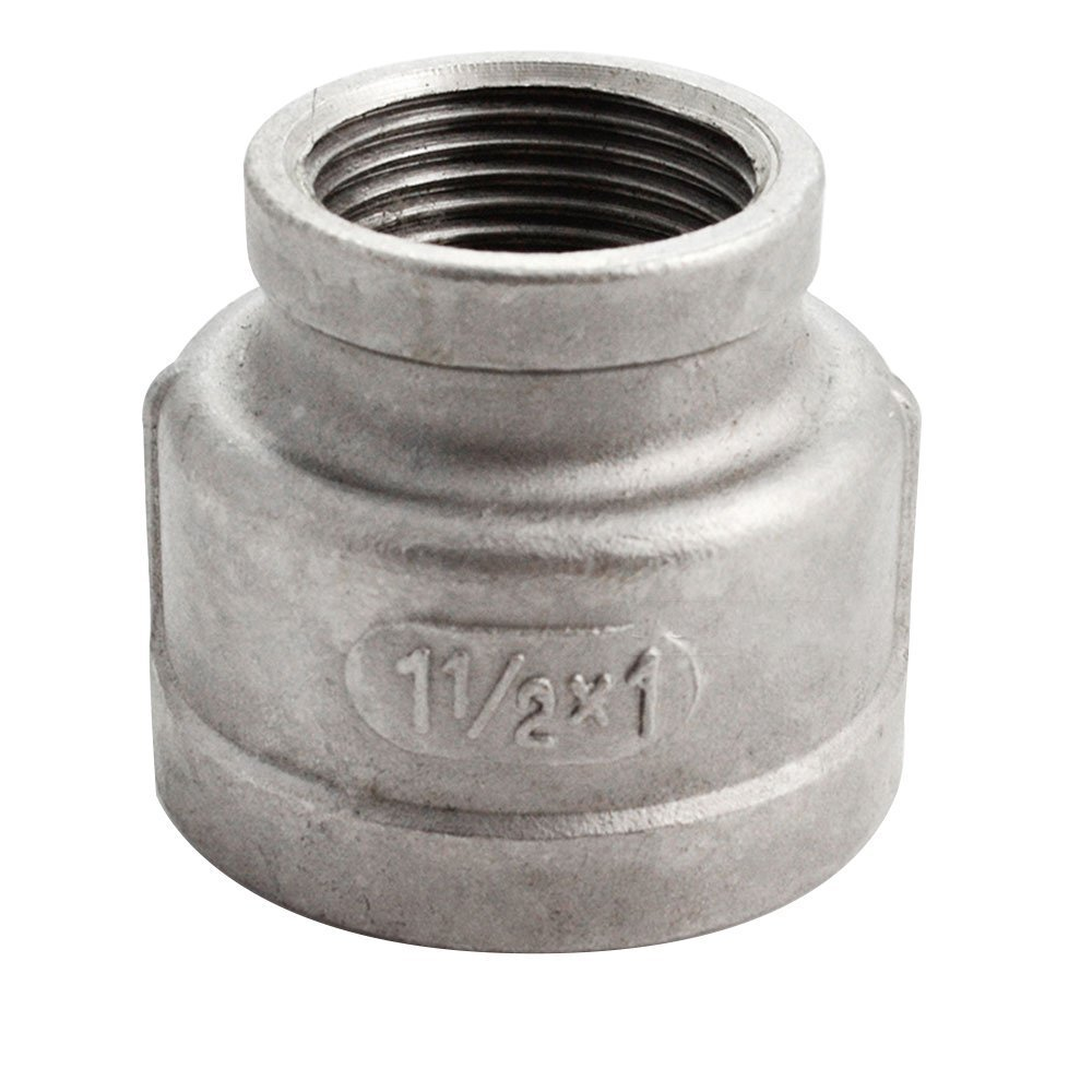 Megairon 3//4 x 1//2 Reducing Coupling,Stainless Steel 304 NPT Female Threaded Cast Pipe Fitting,Nipple