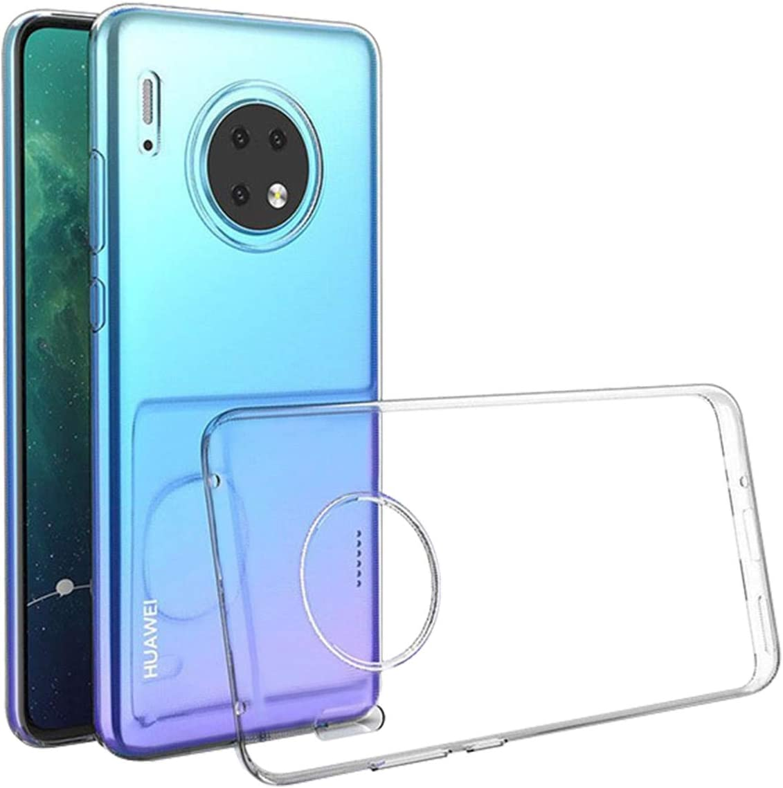 Funda para Huawei Mate 30 Pro Case Slim Transparente con Función ...