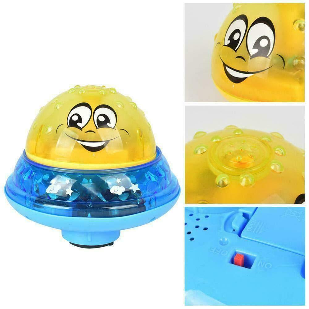 Automatische Induktions Sprinkler Babyspiel Wasserbad Spielzeug f/ür Babys Kleinkinder Kinder-Party Aokebeey Kinder Schwimmende Badespielzeug Wasserspielzeug mit Licht Rot
