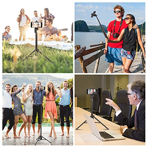 Eocean Selfie Stick Tripod, 54 Inch Adjustable iPhone Tripod, Extendable Camera Tripod for Cellphone and Camera, with Wireless Remote for iPhone 8/8 Plus/X/7/7 Plus/Galaxy/Google by Eocean (Image #6)