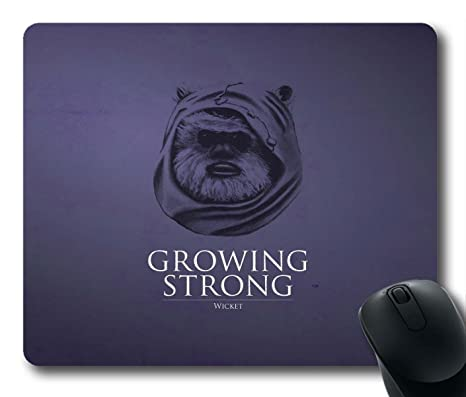 gaming mouse pad growing strong star wars ewok personalized