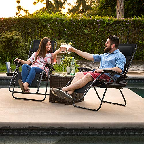 patio, lawn & garden, patio furniture & accessories, patio seating, chairs,  lounge chairs  discount, Best Choice Products Set of 2 Adjustable Zero Gravity Lounge Chair Recliners for Patio, Pool w/ Cup Holder Trays, Pillows » Gray deals1