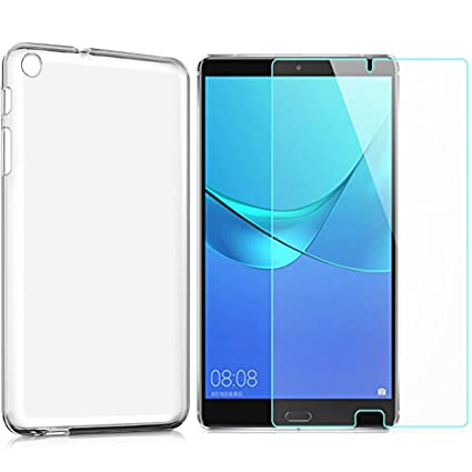 wholesale dealer e3e79 df70e MYLB Huawei MediaPad M5 8.4 Case Cover,With Huawei MediaPad M5 8.4 Screen  Protector 2 in 1 TPU Silicone Case with 9H tempered glass screen protector  ...
