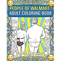 Deals on People of Walmart.com Adult Coloring Book Paperback