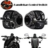 Qlhshop 2 x Black Motorcycle 1 Inch Turn Signal