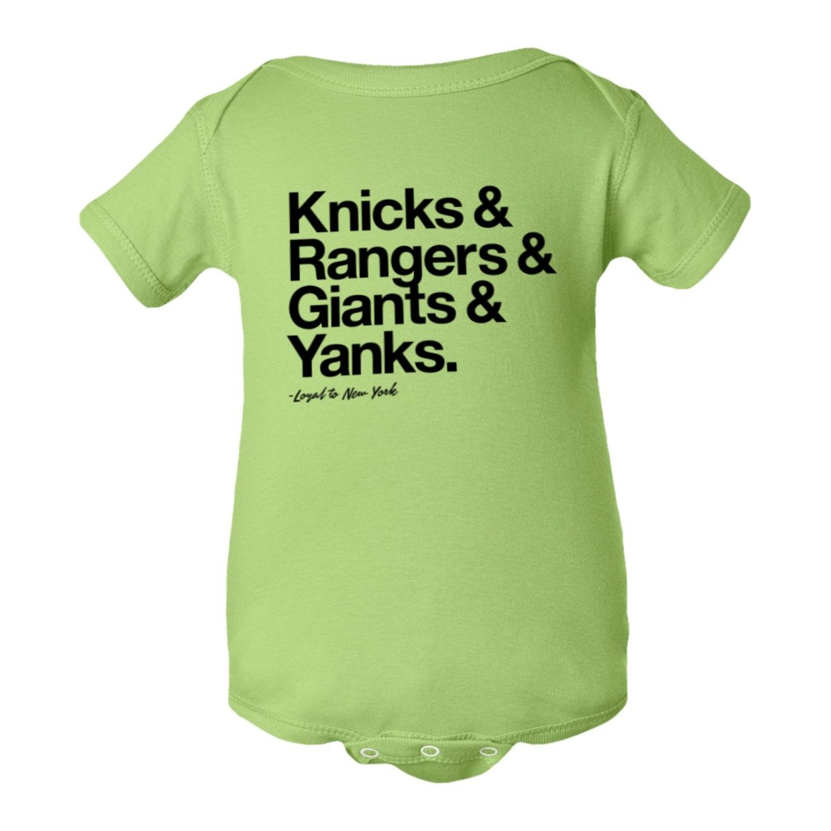 PleaseMeTees Baby Creeper Loyal Knicks Rangers Giants Yankees Sports 1-Pc Jumper