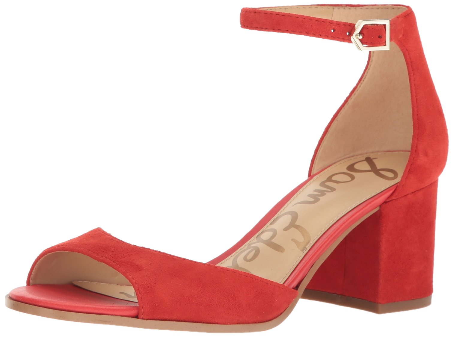 Sam Edelman Women's Susie, Havana Red Suede, 8 M US