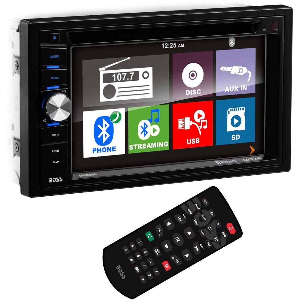 BOSS Audio BV9366B Double Din, Touchscreen, Bluetooth, DVD/CD/MP3/USB/SD AM/FM Car Stereo, 6.2 Inch Digital LCD Monitor, Wireless Remote