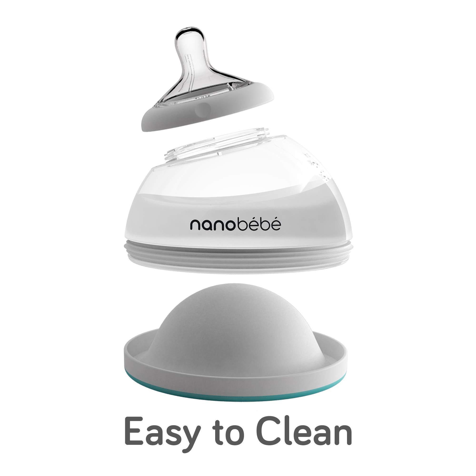 Nanobebe Breastmilk Feeding Bottle Teal Pack of 3 Transition Bottles 8oz//240ml Newborn Baby Bottle