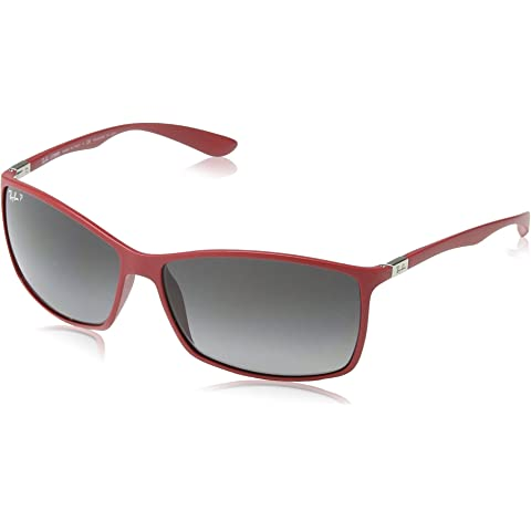 cdad1061829 Ray-Ban Liteforce Classic Rectangle Sunglasses in Matte Red RB4179 6123T3 62