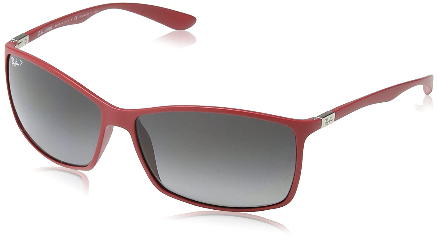 f57a9d2b6f Ray-Ban Liteforce Classic Rectangle Sunglasses in Matte Red RB4179 6123T3 62  62 Gradient Grey Polarised  Amazon.ca  Luggage   Bags