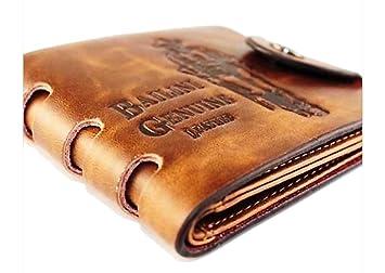 Cool Leder Vintage Braun Geldbeutel Geldborse Portemonnaie