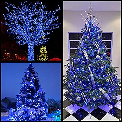 YULETIME Commercial Grade Stay Lit LED Christmas String Lights, UL Certified 66 Ft 200 LEDs Green Wire