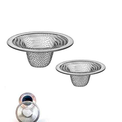 Beau 2 Pc Stainless Steel Mesh Sink Strainer Drain Stopper Trap Kitchen Bathroom  New