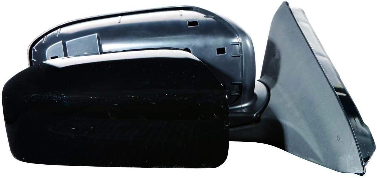 Depo 317-5406L3EL Glossy Black Driver Side Power Non-Heated Mirror