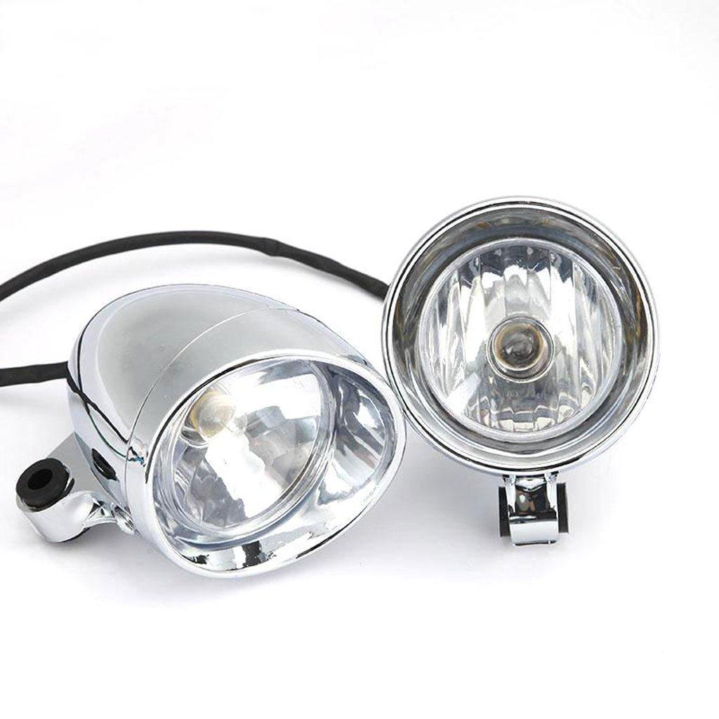 Pack of 2 4 Chrome Motorcycle Bullet Front Headlight Fog Light Lamp for Harley
