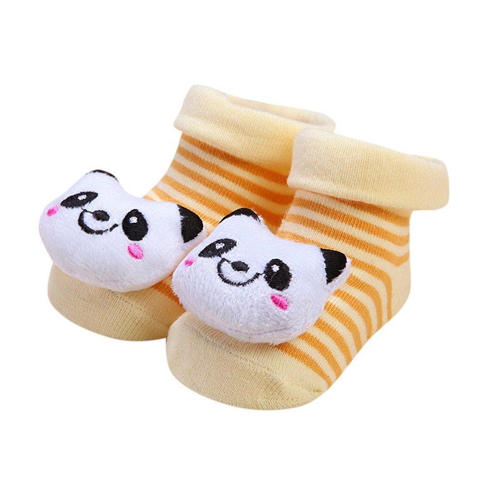 WuyiMC 1 Pair Cute Cartoon Unisex Toddler Baby Cotton Anti-Slip Socks Slipper Shoes Boots