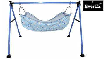 everex    folding stainless steel indian style ghodiyu palna swing cradle for born baby with hammock everextm folding stainless steel indian style ghodiyu palna swing      rh   amazon in