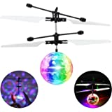 AMENON RC Flying Ball Kids Toys Light Remote Control Rotating Charging Hand-Controlled Drone Helicopter Toy Light Up Mini Bal