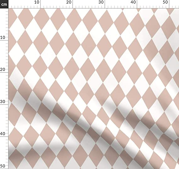Diseño de rombos de payaso, diamantes, narro, telas cuadradas ...