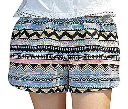 US&R, Women's Colorful Geometric Pattern Comfy Secret Fit Belly, Multi 10 ,Manufacturer(XXL)