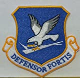 United States Air Force DEFENSOR FORTIS Iron-On Patch USAF