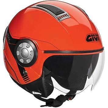 GIVI H111BR36760 Hps 11.1 Air Deni Jet Casco, Color Rojo, Talla 60/L