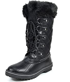 Amazon.com | London Fog Womens Melton Cold Weather Waterproof Snow ...