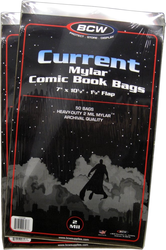 BCW (100) Current Age Mylar Comic Sleeves - 2 Mil Thick