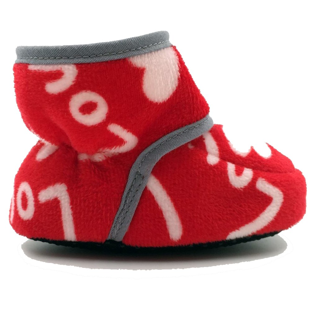 CONDA Baby Booties Girl /& Boy Infant Fleece Slippers Soft Cozy and Colorful Baby Shoes 0-18 Months 12 Colors