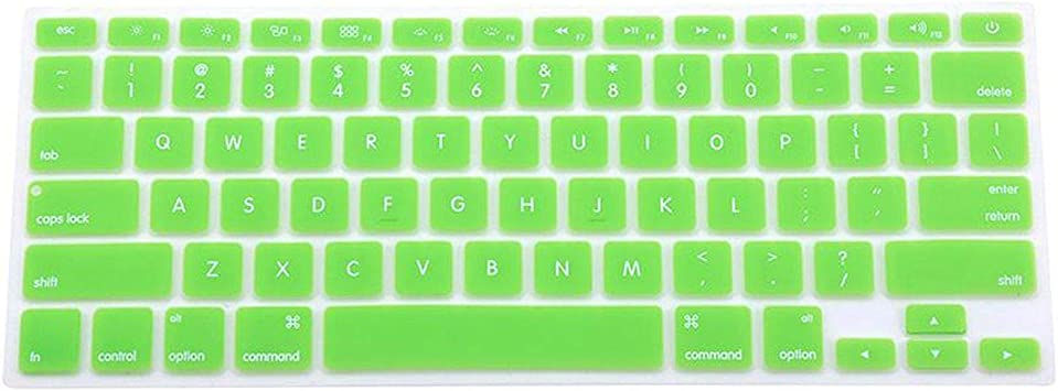 7 Candy Colors 28.7Cm X 11.9Cm Silicone Keyboard Skin Cover for MacBook Pro Mac 13 15 17-White